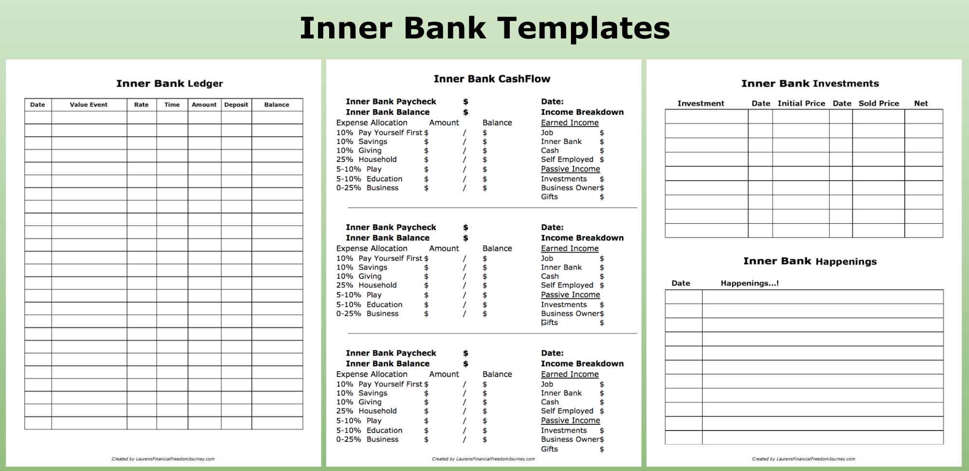 mental bank ledger pdf step by step freedom from the rat race