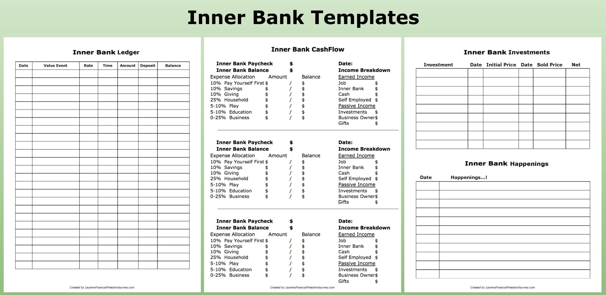 bank ledger printable